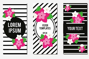 Flowers Flyer design templates