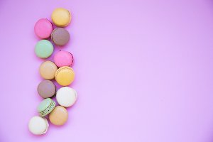 sweets, background, Macaron