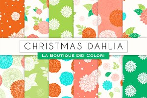 Christmas Floral Digital Paper
