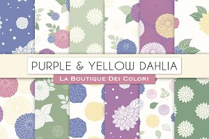 Purple and Yellow Floral Patterns
