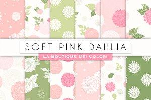 Pink Floral Seamless Digital Paper