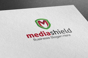 Media Shield Style Logo