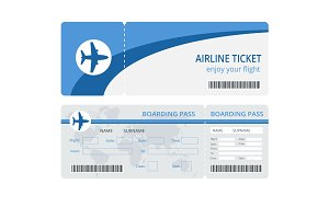 Plane ticket design