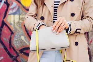 Woman in a beige coat