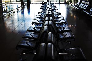 Man waiting in airport