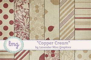 Copper Cream Scrapbook Paper