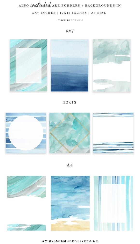 Water Color Beach Images, Stock Photos & Vectors   Shutterstock