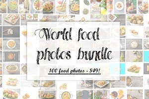 100 world food photos bundle
