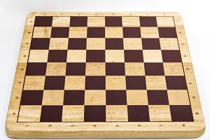 Empty Wooden Chess board