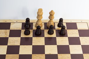 Wooden Chess pieces - Resistance