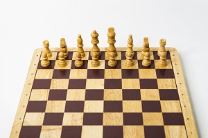 Isolated Chess Game- Front view