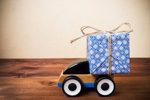 Concept of gift delivery service
