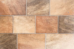 Orange tiled wall - HD Texture