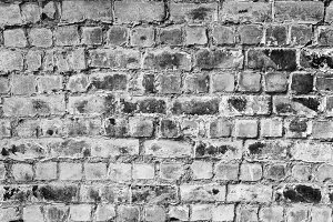 Black and white rough bricks Texture