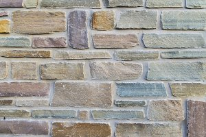 Colorful rough bricks - Masonry