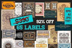 92% OFF Mega Pack 65 Labels bundle