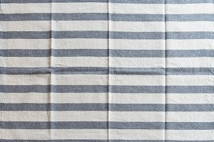 Striped white kitchen towel