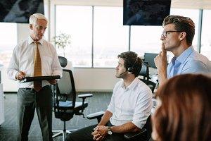 Business people having brainstorming