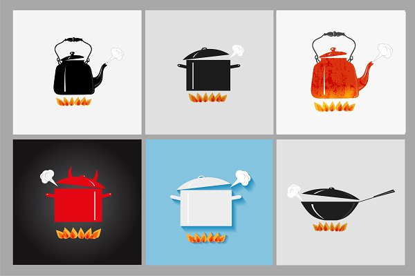 Boiling sauspans and kettles