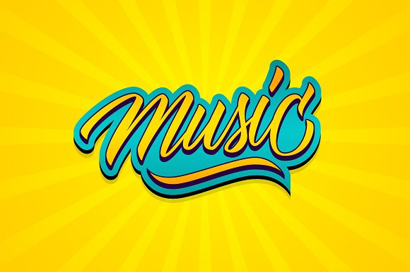 Handwritten Word Music