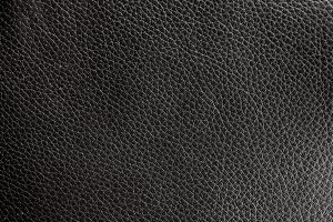 Genuine black leather