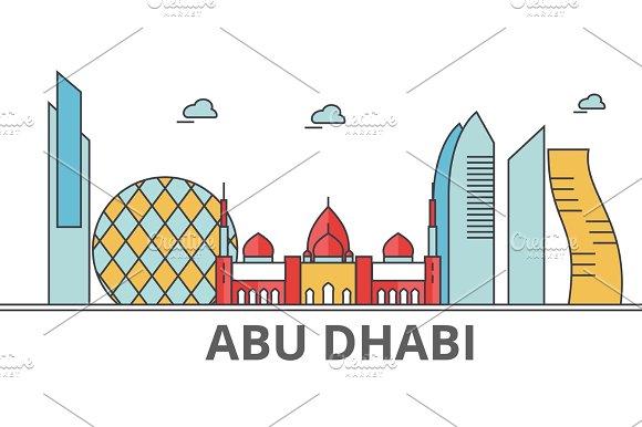 Abu Dhabi city skyline