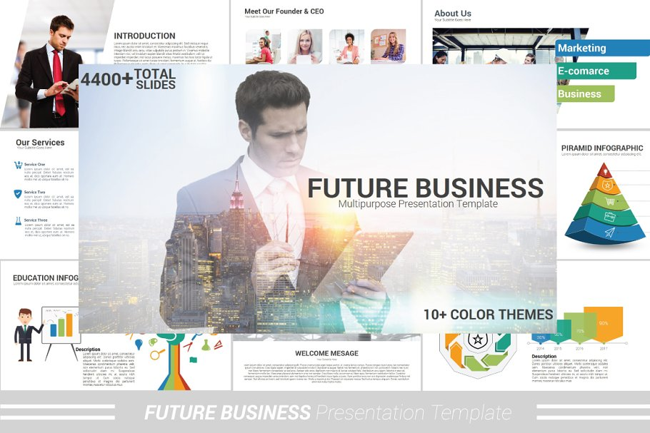 Future Business Powerpoint Template Powerpoint Templates