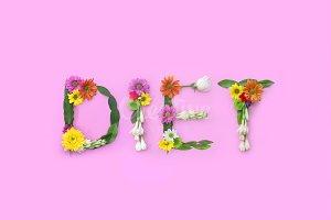 Diet. FLowers composition