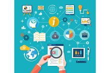 Web site seo analytics charts