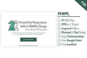 MiNML - Clean & Minimal PSD Template