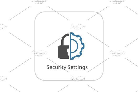 Security Settings Icon Flat Design