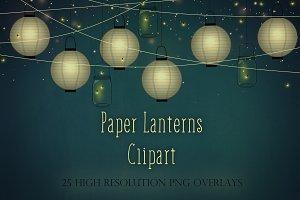 Paper lanterns clipart