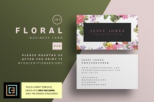 Floral - Business Card 107