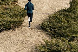 Female runner outdoors