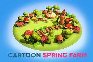 Cartoon Spring Farm