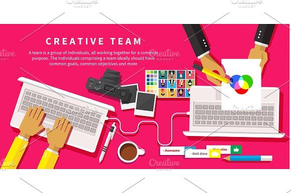 Creative team. Young design team - Graphics