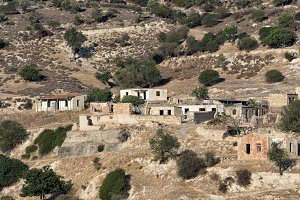 The abandoned dead village Souskiou in Paphos District, Cyprus