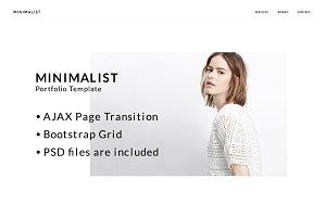 MINIMALIST: Portfolio HTML Template