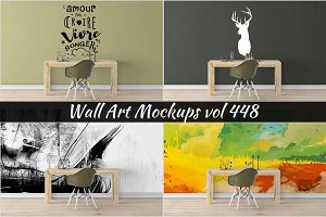 Wall Mockup - Sticker Mockup Vol 448