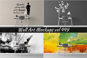 Wall Mockup - Sticker Mockup Vol 449