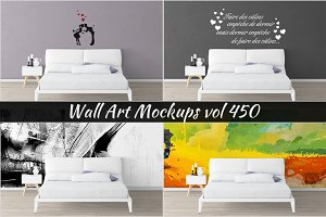 Wall Mockup - Sticker Mockup Vol 450