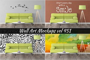 Wall Mockup - Sticker Mockup Vol 451