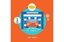 Business concept car wash best clean