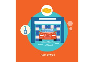 Business concept car wash best clean