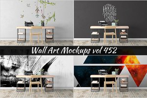 Wall Mockup - Sticker Mockup Vol 452