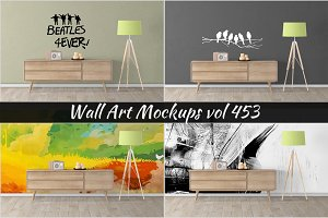 Wall Mockup - Sticker Mockup Vol 453