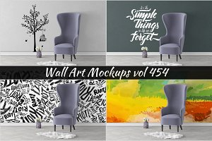 Wall Mockup - Sticker Mockup Vol 454