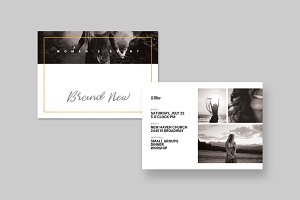 Women's Event Postcard Template