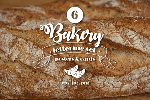 6 lettering BAKERY posters.