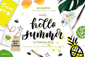 Hello Summer Lettering Pack